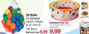 50/100 Bälle (3,49€/6,99€) für Bällebad 87x30 cm (9,99€) [JAWOLL Märkte]
