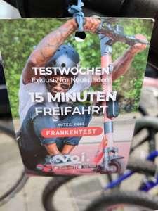 VOI E-Scooter 15 Minuten Guthaben Neukunden (Lokal Bayern-Franken)