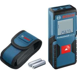 Bosch Professional Laser Entfernungsmesser GLM 30 Ein-Knopf-Bedienung, max. Messbereich: 30 m; 2x 1,5-V Batterien, Schutztasche (Prime)