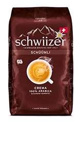 [Prime Spar-Abo] Schwiizer Schüümli Crema Ganze Kaffeebohnen (Stärkegrad 3/5, Premium Arabica), 1kg