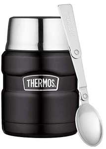 THERMOS Stainless King Speisegefäß, Edelstahl, Mat Black, 0,47 Liter inkl. Löffel für 19,99€ (Amazon Prime)
