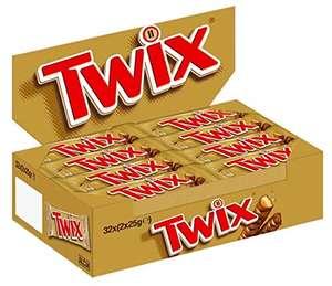 [PRIME] Twix Schokoriegel | Keks, Karamell | 32 Doppelriegel in einer Box (32 x 2 x 25 g)