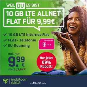 [Telekom-Netz] 10GB green LTE Tarif für 9,99€ / Monat von mobilcom-debitel mit VoLTE, WLAN Call & Allnet-Flat