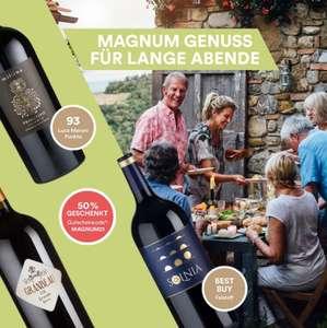 Weinfreunde Magnum Flaschen mit 50% Rabatt
