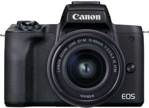 Canon EOS M50 Mark II Systemkamera + EF-M 15-45 mm F3.5-6.3 STM Objektiv Kit