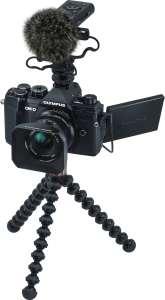 Olympus OM-D E-M5 Mark III MFT Systemkamera + M.Zuiko 12mm F2 Objektiv + LS-P4 Mikrofon + weiteres Zubehör