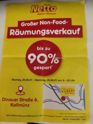 Netto Kallmünz (Raum Regensburg) großer Non-Food Sonderverkauf ua. Kärcher Nass/Trockensauger WD 2.200