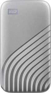 Western Digital WD My Passport SSD silber 2TB (M.2, R1050/W1000, USB-C 3.2 Gen 2, Alu-Gehäuse)