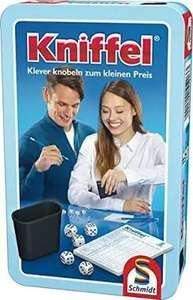 [KULTCLUB] Brettspiel/Würfelspiel/Gesellschaftsspiel Kniffel in Metalldose (Klassiker, 2-8 Sp. ab 8) [mit pers. Gutschein 3,18€] BESTPREIS
