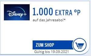 Disney+ mit 1.000 Paypack Punkten (entspricht 10 € Rabatt, eff. 79,90€) auf das Jahresabo!