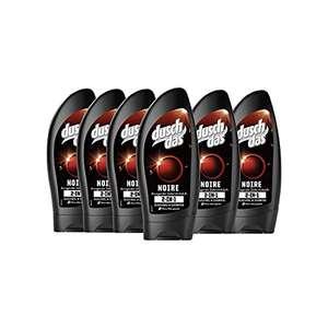 Amazon Prime Duschdas 6er Pack 2 in 1 Duschgel & Shampoo für Männer Noire Duschbad mit anregendem Zedernholzduft (6 x 250 ml)
