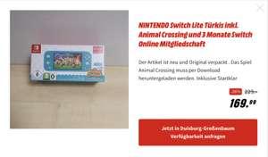 [Lokal MM Duisburg-Großenbaum] Nintendo Switch Lite Coral/Turquoise, Animal Crossing, 3 Mon. Switch Online