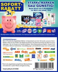 3€ Rabatt Coupon für den Kauf von 3x Air Wick, Calgon, Finish, Sagrotan Vanish iWv. mind. 10€