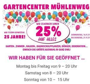 Gartencenter Mühlenweg (25% auf ALLES) [Lokal/Bielefeld]
