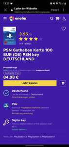 Playstation Guthaben (100€)