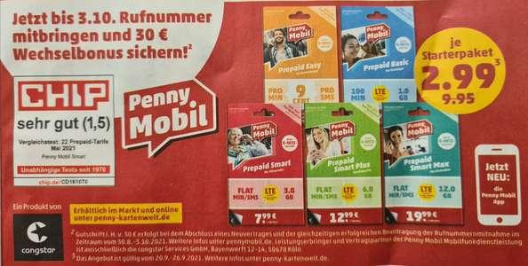[PENNY] Penny Mobil Prepaid Starterpaket für 2,99€