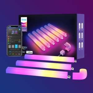 Govee Glide Smart RGBIC Wandleuchte 6 Stück + 1 Ecke Alexa Unterstützung