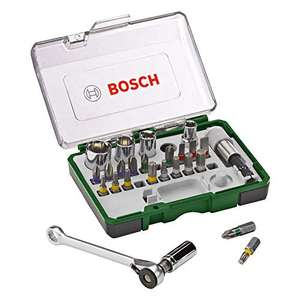 [Amazon Prime] Bosch Bit & Mini Ratschen-Set, 27-tlg. (2607017160)