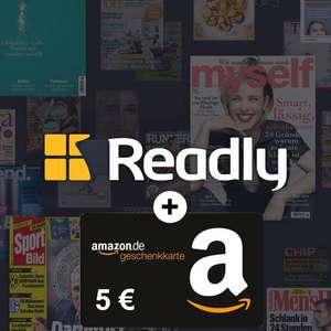 5€ Amazon Gutschein zum 3-monatigen Readly Abo für 0,99€ [nur für Neukunden] - u.a. mit Auto Bild, Rolling Stone, Sport Bild, etc.