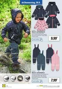 LUPILU® Matsch- und Buddelkleidung Kleinkinder (Herbst Version mit Futter) ab 7,99 € [online sofort / Markt ab 30.09.] [LIDL]