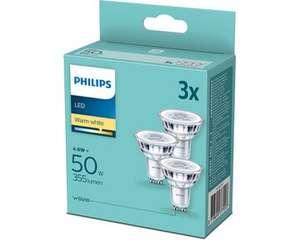 EDEKA Hessenring: Philips LED Leuchtmittel z.B. 3 Stück LED Reflektor GU10 4,7Watt ,warmweiß, 345Lumen