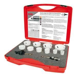 RUKO HSS Co 8-Bimetall-Lochsägensatz im Kunststoffkoffer 10 Lochsägen, 12 Teile gesamt
