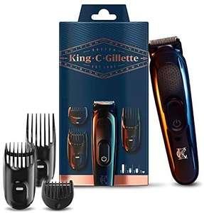 Braun King C. Gillette Akku Bartschneider für Herren, Längen von 1 mm bis 21 mm einstellbar [Prime oder Abholstation]