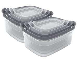 8 Joseph Joseph Aufbewahrungsbehälter mit Deckel Nest Storage (2x XL: 1.85 l, 2x L: 1.1 l, 2x M: 540 ml, 2x S: 230 ml)