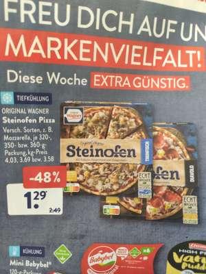 Aldi Süd und Nord Wagner Steinofen Pizza ab 20.9