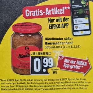 [Marktkauf / Edeka Südwest] Händlmaiers süßer o. altbayrischer Senf für 0,99€ (335ml Glas), mit der Edeka Genuss+ App gratis ab 5€ Umsatz