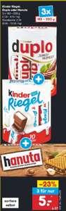 Netto MD Duplo, Kinder Riegel, Hanuta 3 Stück nur 5 Euro plus Scondoo für Kinderriegel evtl lokal BaWü