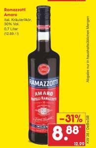 Netto MD Ramazzotti für nur 8,88 Euro evtl lokal BaWü