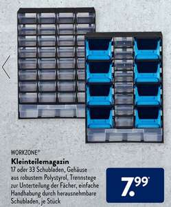[ALDI-Süd] Kleinteile Magazine mit 17 oder 33 Schubladen