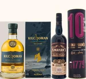 Whisky-Übersicht #108: z.B. Kilchoman Saligo Bay Islay Single Malt für 48,94€, Kinahan's 10 Jahre Irish Whiskey für 48,45€ inkl. Versand