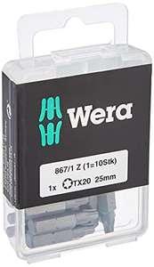 Wera Bit-Sortiment 10 Bits Box 867/1 TX 20 DIY, TX 20 x 25 mm für 7,48€ (Amazon Prime)