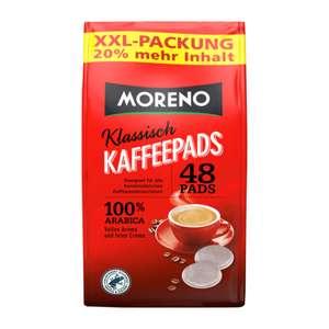 """ALDI NORD: je Kaffee 6,2Cent, die Eigenmarke """"Moreno"""" im XXL Pack mit 48 Pads ( normal sind 40Stück)"""