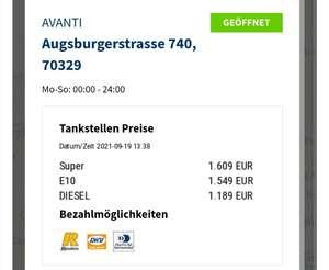 Diesel 1,18 (Lokal Stuttgart )