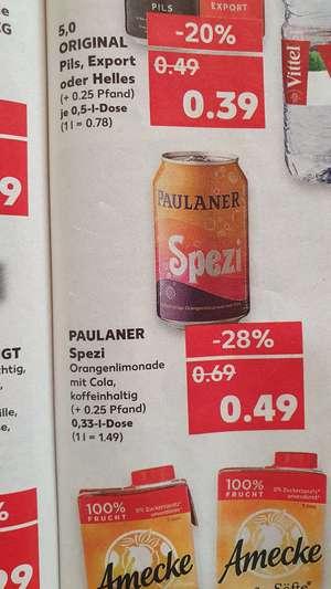 Paulaner Spezi 0,33 Liter Dose für 0,49€ (+0,25€ Pfand)