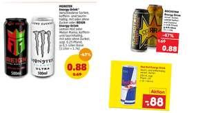 Energy Drink Angebote vom 20.09 - 26.09 z.B. Reign Body Fuel oder Monster Energy für 0.88€ + 0.25€ Pfand