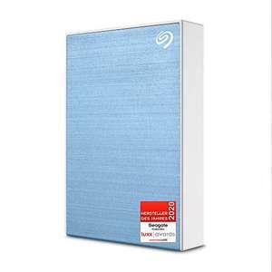 Seagate One Touch, tragbare externe Festplatte 4 TB, PC, Notebook & Mac, USB 3.0, Hellblau, 2 Jahre Rescue Service, Modellnr.: STKC4000402