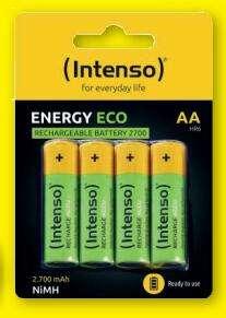 4er-Pack Intenso Energy Eco AA 2700 mAh NiMH Akkus für 3,99€ [ZIMMERMANN FILIALEN]