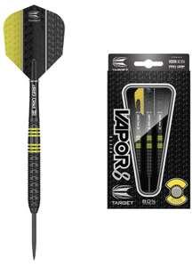 Target Darts Vapor 8 Steel-Darts , 22g , schwarz gelb