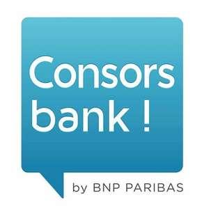 [Shoop] Consorsbank 50€ Cashback + 50€ Guthaben für kostenloses Girokonto mit VISA Debit (3x 700€ Geldeingang - kein Gehaltseingang nötig)