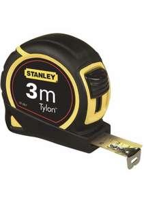 Stanley 1-30-687 Bandmass Tylon, 3 m, Tylon-Polymer Schutzschicht, verschiebbarer Endhaken, Kunststoffgehäuse (Prime)