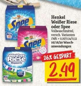 [NP DISCOUNT] 4x Spee o. Weißer Riese Waschmittel 16-20WL für 1,49€/Packung (=0,07€/WL)