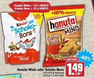 Kinder Schokobons (200g+25g) für 1,49€ ab Montag 27.09.2021 [HIT/AEZ]