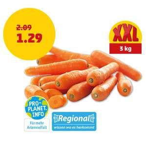 PENNY: Deutsche Karotten / Möhren 3KG (0,43€/kg)