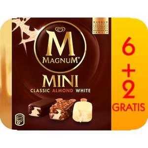 LANGNESE Magnum Mini Eis 6+2 Gratis Classic/Almond/White