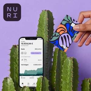 50€ Neukundenbonus fürs kostenlose Nuri Girokonto + kostenlose VISA (weltweit kostenfreie Bargeldabhebungen) bei Aktivität