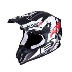 Scorpion Motocrosshelm VX-16 AIR Albion, matt schwarz-weiß, Gr. S bis XL verfügbar [Shop: Profil Hamburg]